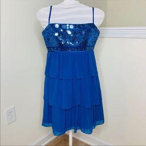 🎉5 for $25🎉 BCBGMaxazria Blue Ruffle Dress